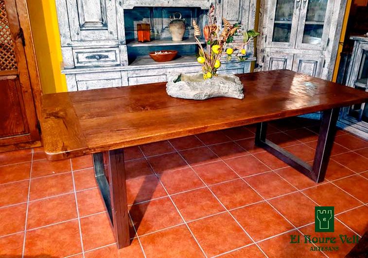 Mesa rústica comedor roble macizo - El Roure Vell muebles rústicos ...