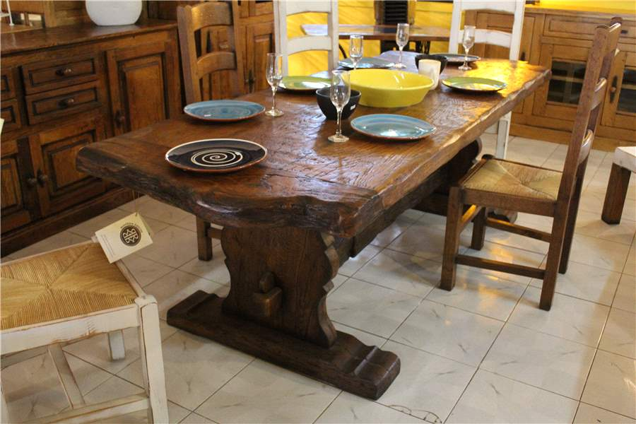 Mesa de comedor rústica rectangular - El Roure Vell ...