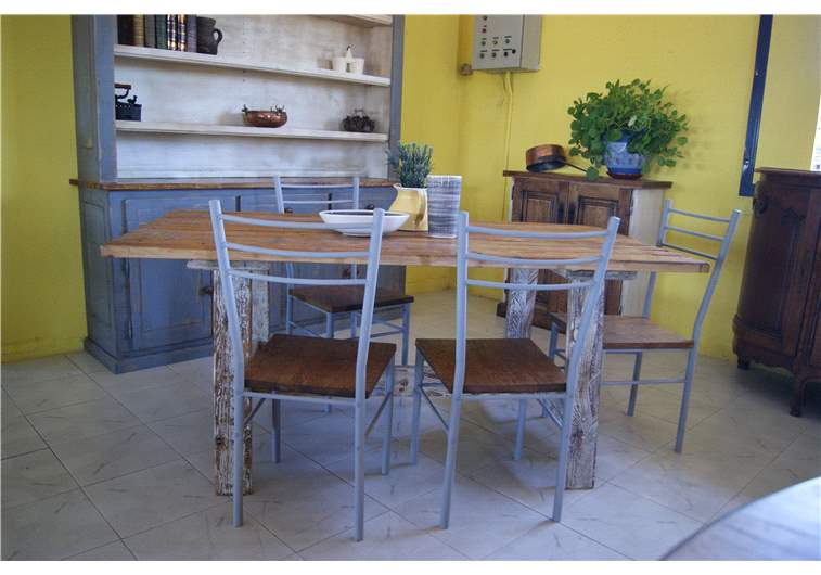Table en pin vintage